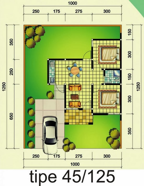 Minimalist House Plan Design Type 45