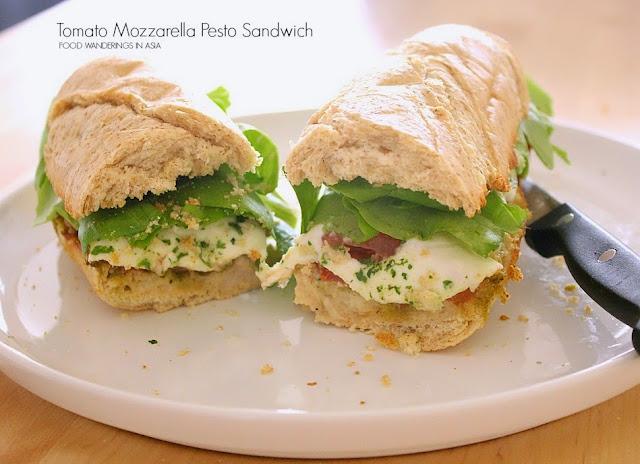 Tomato Mozzarella Pesto Sandwich