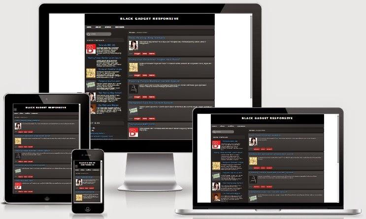 Black Gadget Responsive Blogger Valid HTML5 dan CSS3