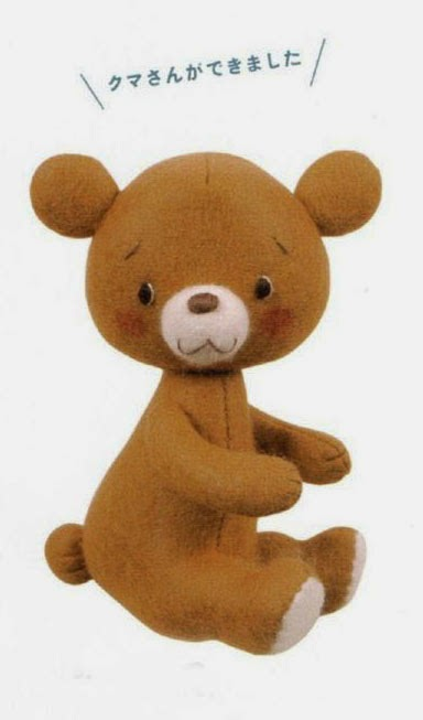 Free Japanese Craft Patterns: Teddy Bear Stuffed Toy Free Japanese ...