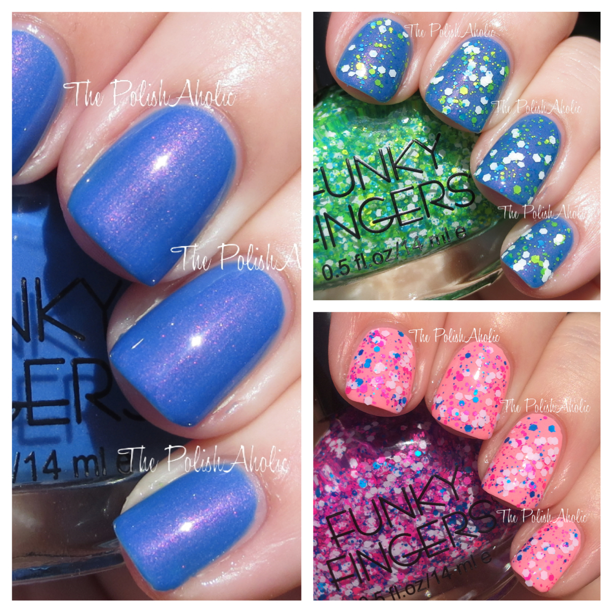 The PolishAholic Funky Fingers Nail Polish Swatches Review