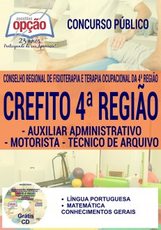 Apostila Crefito MG 2017 Auxiliar Administrativo