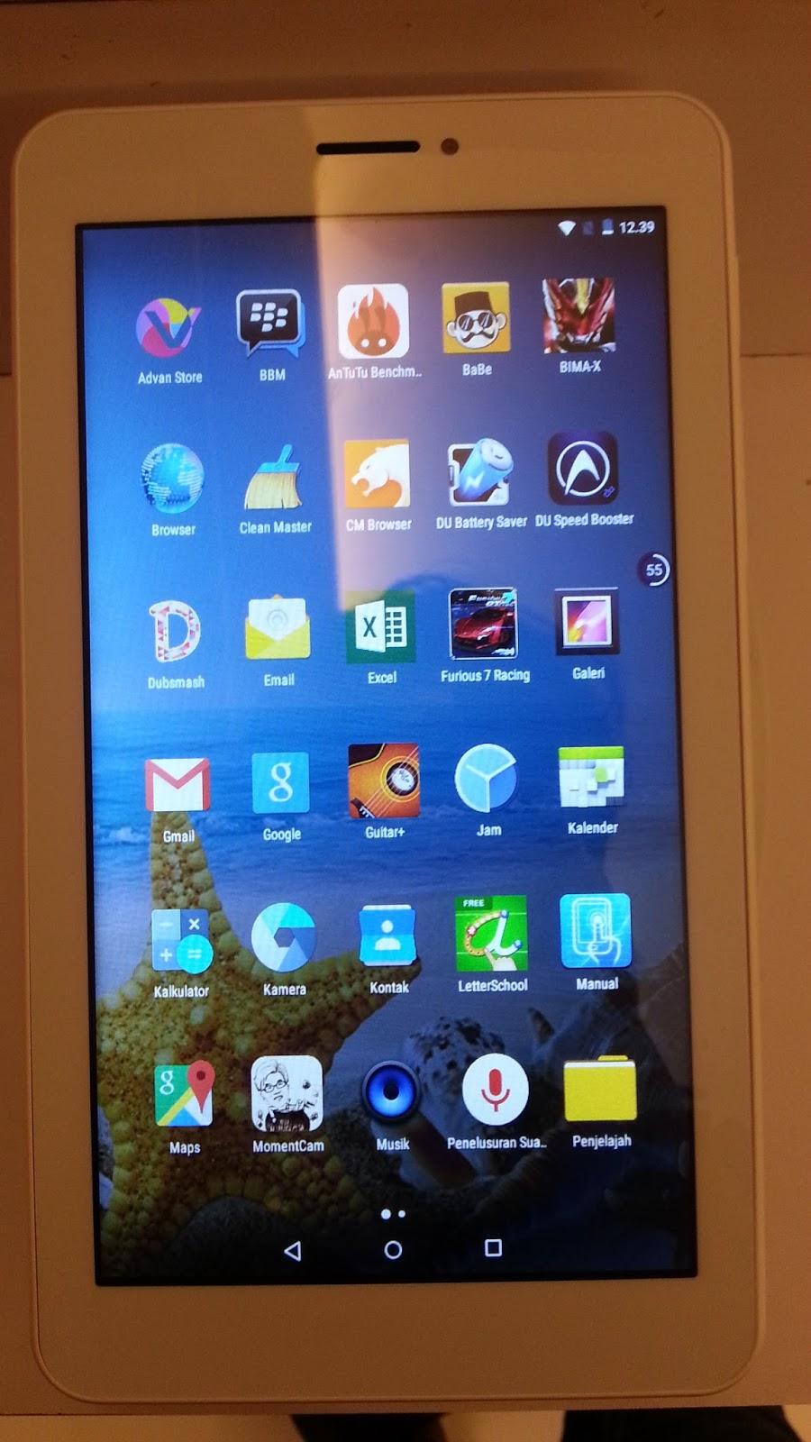 Yang Terdapat Pada Advan Vandroid X7 Tablet Telah Sofware Bawaan Seperti Untuk Keperluan Office Sudah Microsoft Word
