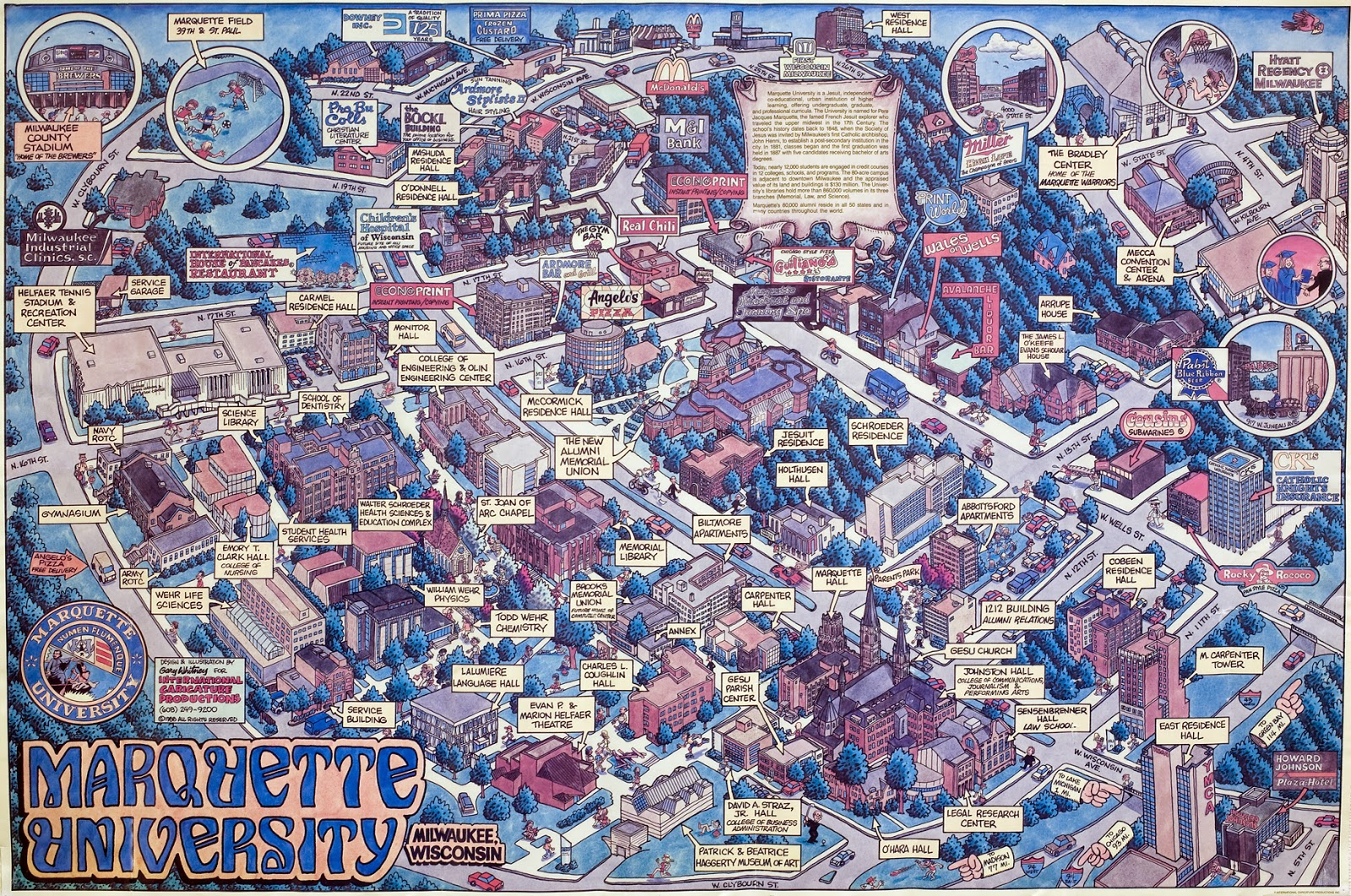 i needed to add a second map however as the marquette map while nice isn t really used by the college these days