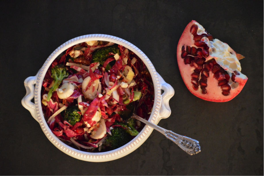 Roasted Broccoli & Radicchio Winter Salad from @NourishRDs