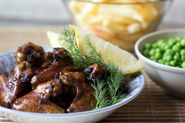 Печени мариновани пилешки крилца