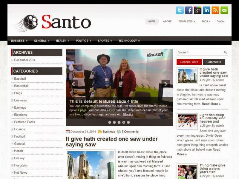 Santo - Free Wordpress Theme