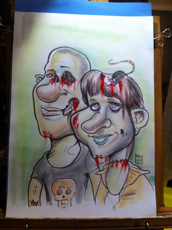 Living Dead caricature - Dublin Tattoo convention title=