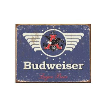 1936 budweiser tin sign for man caves
