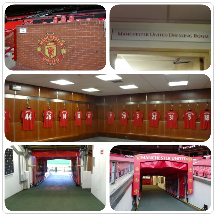 Manchester United, Old Trafford Stadium Tour, Dressing Room, Dugout and Tunnel