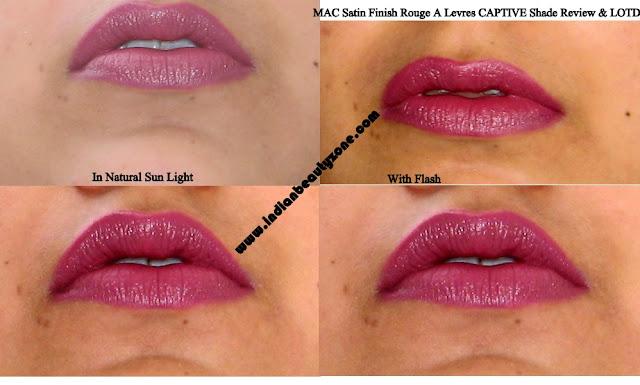 MAC Captive lip swatches