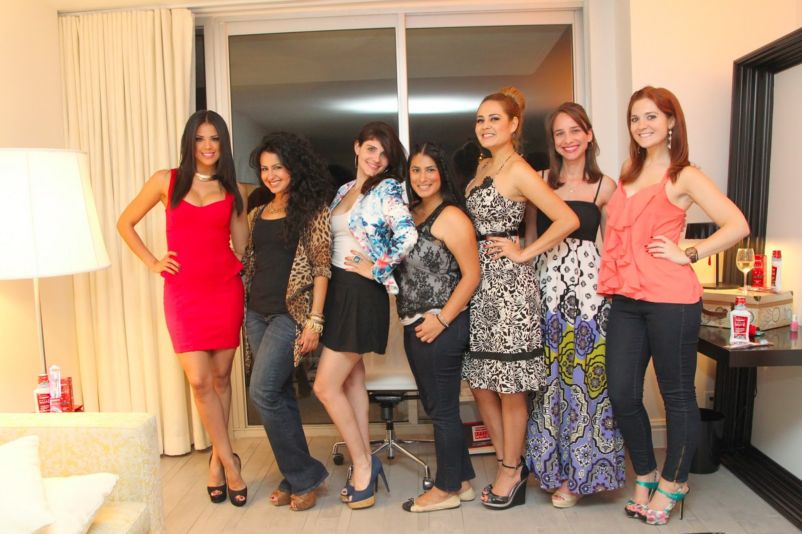 Nuestra Belleza Latina Viewing Party With Colgate Optic White Fab
