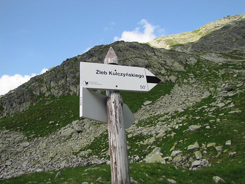 Rozstaj szlaków w Koziej Dolince.