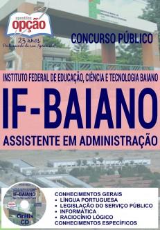 Apostila Instituto Federal Baiano (IFBaiano) Vídeo Aula - Assistente em Administra