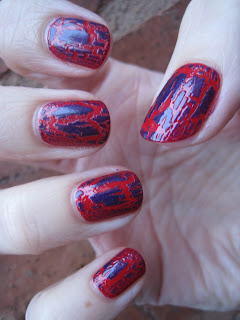 Barry M Purple Rain Crackle Nail Polish