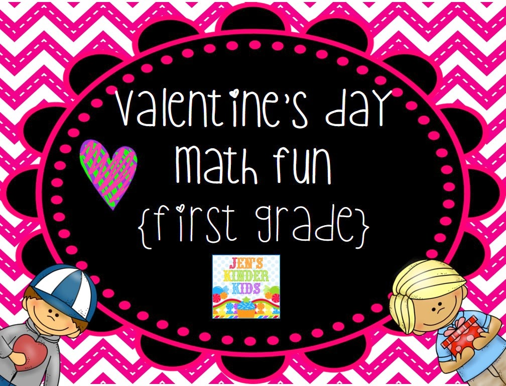 http://www.teacherspayteachers.com/Product/Valentine-Math-Fun-First-Grade-1080028
