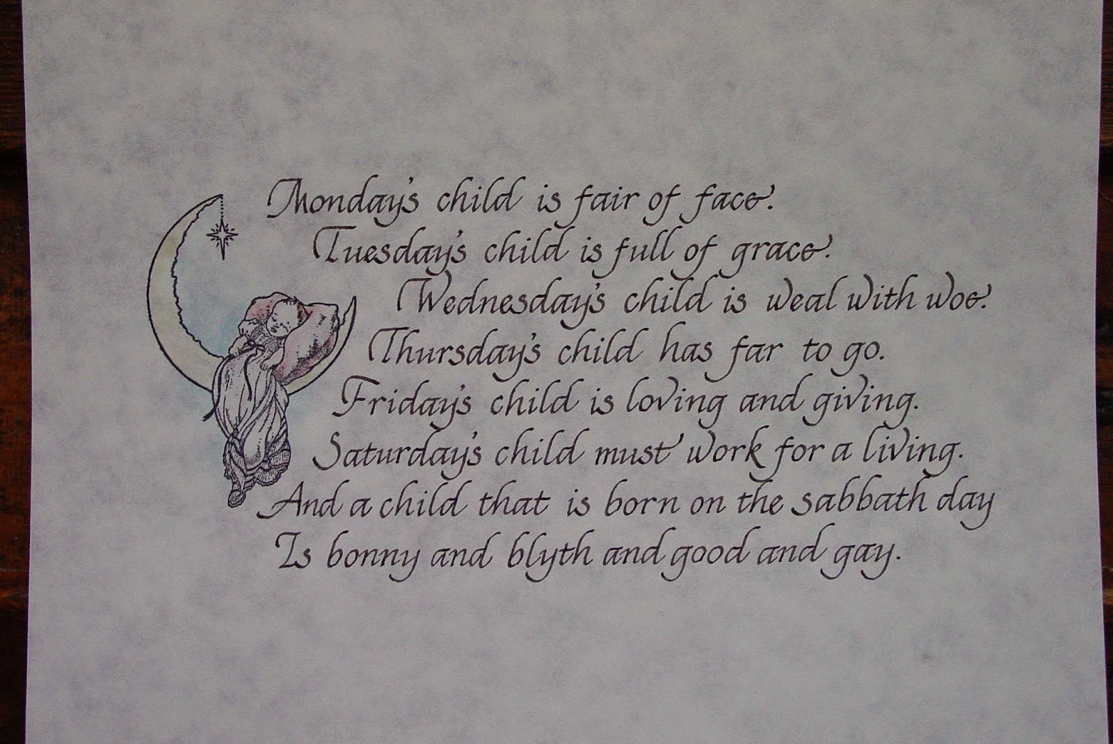 saturdays child poem