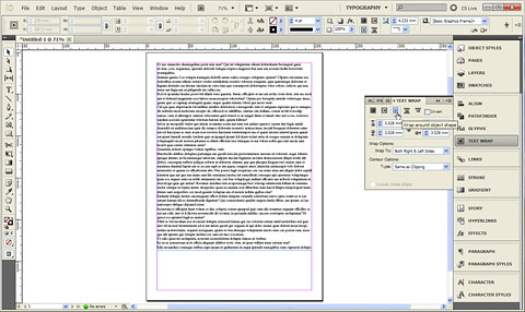Changing document defaults in InDesign with document open