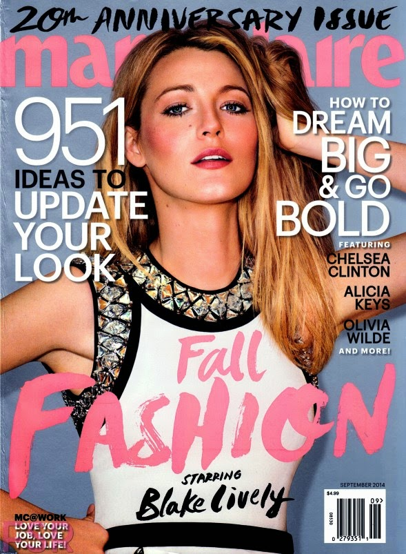 Blake Lively - Marie Claire Magazine, USA, September 2014