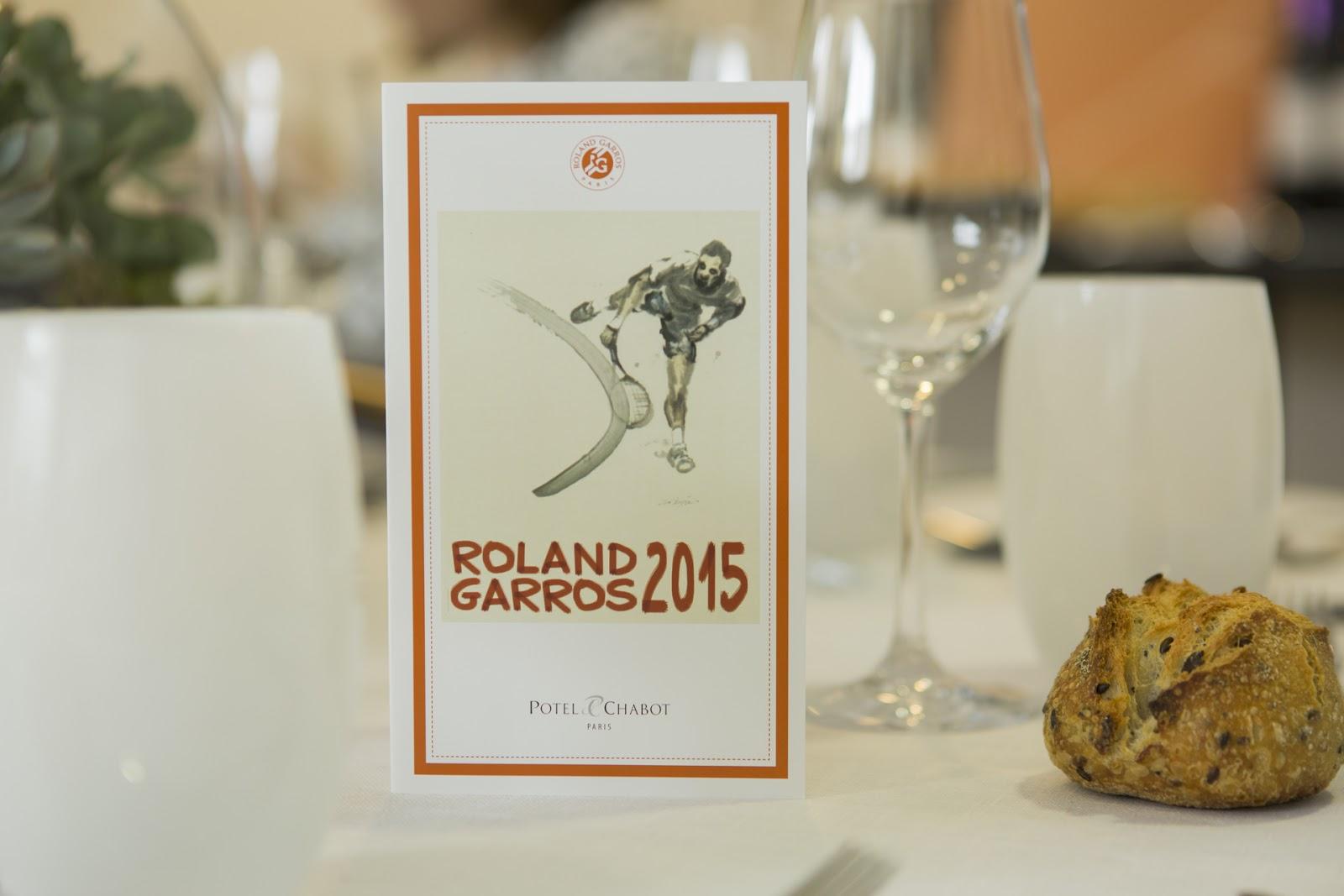 Roland Garros Potel et Chabot Menu