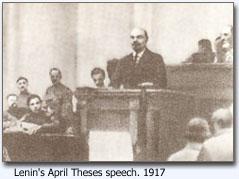 Explain Lenin's April Theses in short points. Lenin was in Russian Revolution