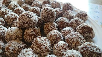 chokladbollar med mindre socker