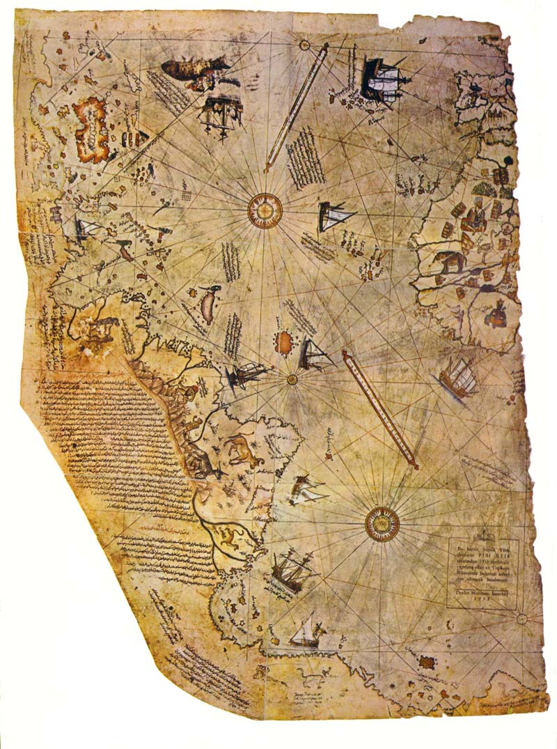 Old world secrets the omega project codes piri reis map1513 back when people thought the world was flat this map existed it was supposedly drawn from previous maps and seems to show antartica ice free gumiabroncs Gallery