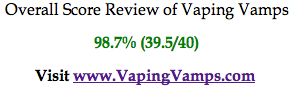 E-Cigarette review of Vaping Vamps