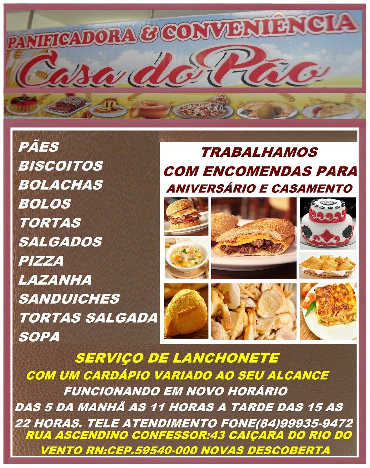 PANIFICADORA CASA DO PÃO.