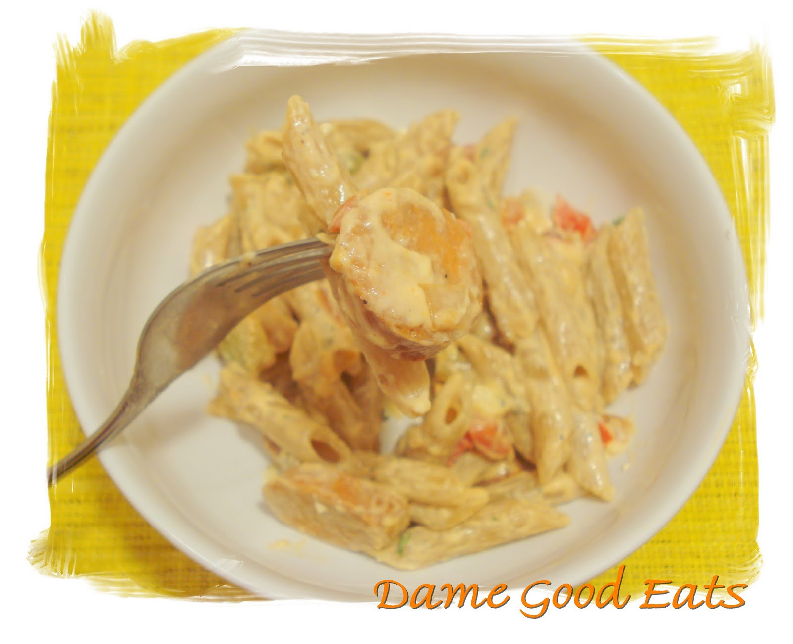 Dame Good Eats: Buffalo Chicken-Sausage Penne