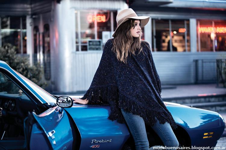Wrangler moda invierno 2014 ponchos