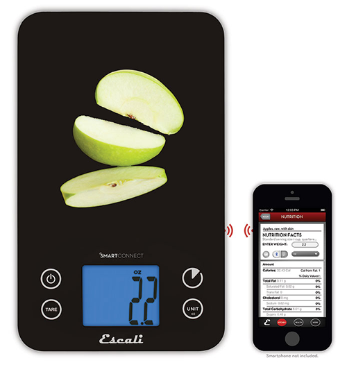 New smartconnect kitchen scale from escali with bluetooth for Kitchen scale with app