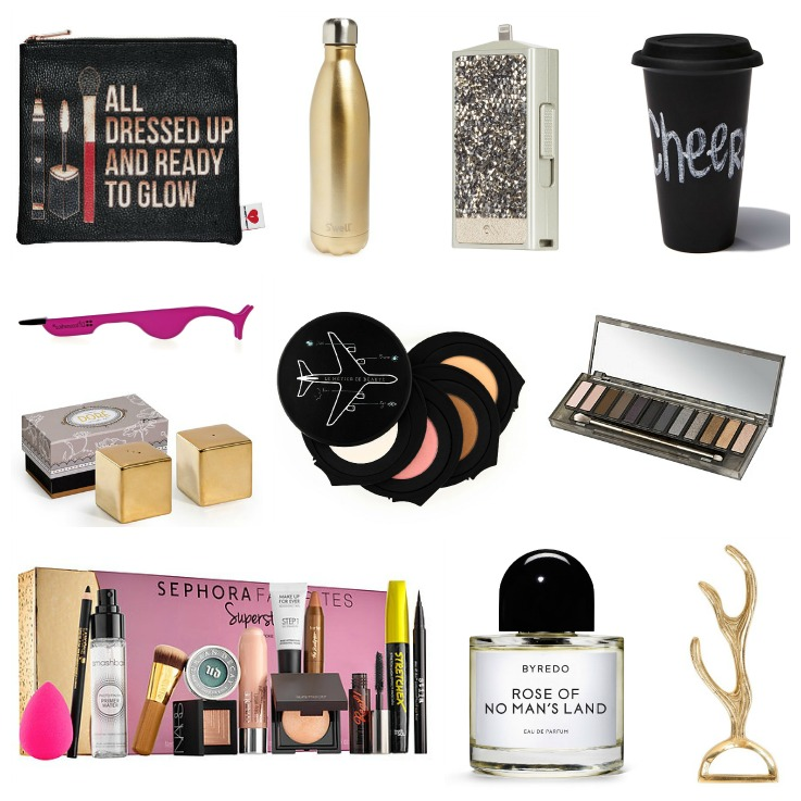 2015 Christmas Gift Guide, Byredo Rose of no man's land, Sephoras Favorites Superstars, iphone charger,  Urban Decay naked Smoky pallette,