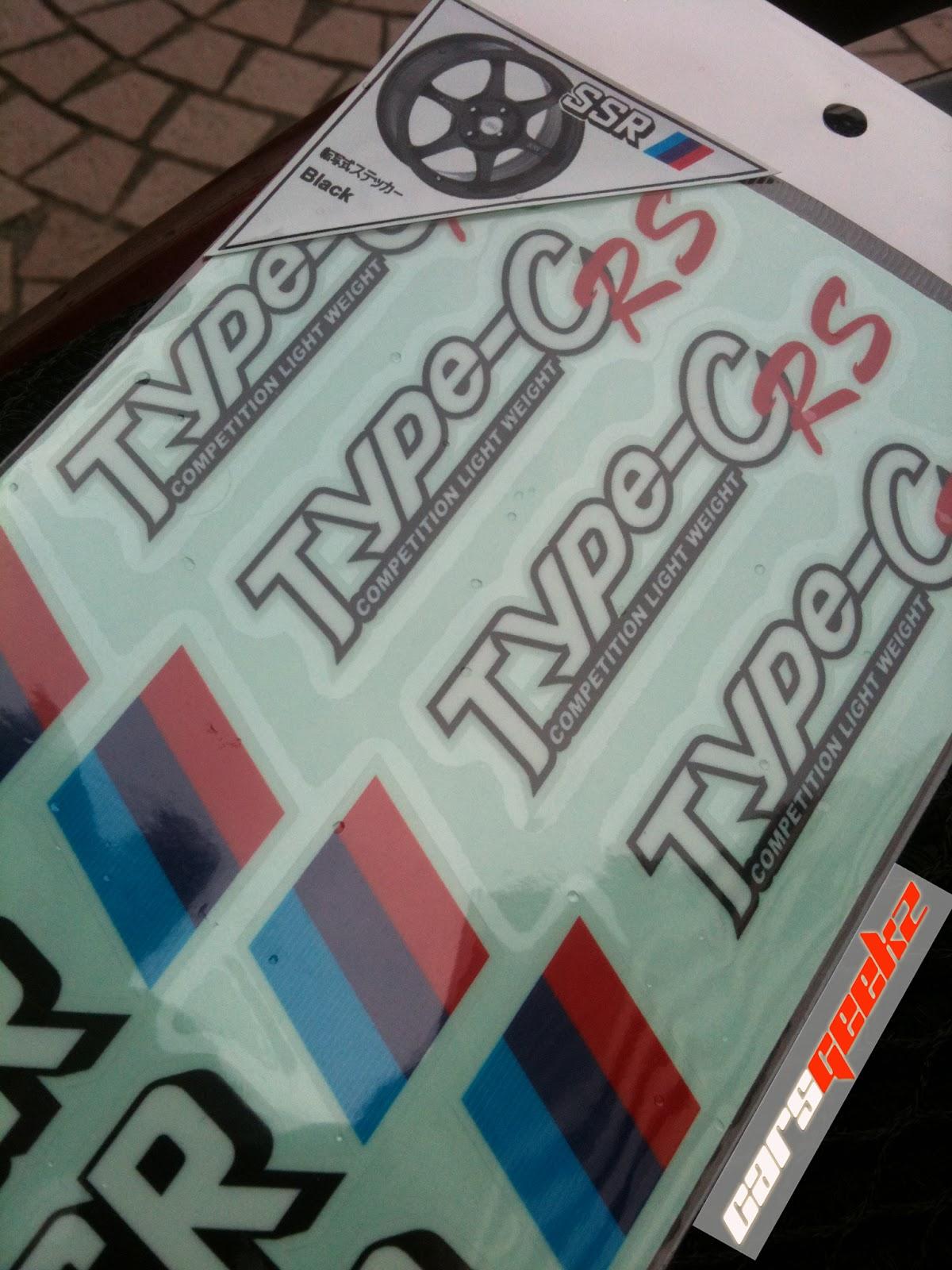 SSR TYPE C - RS sticker decal vinyl