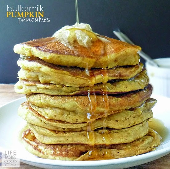 Buttermilk Pumpkin Pancakes | by Life Tastes Good