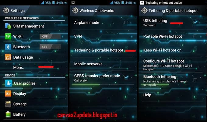 how to connect windows mobile internet to pc