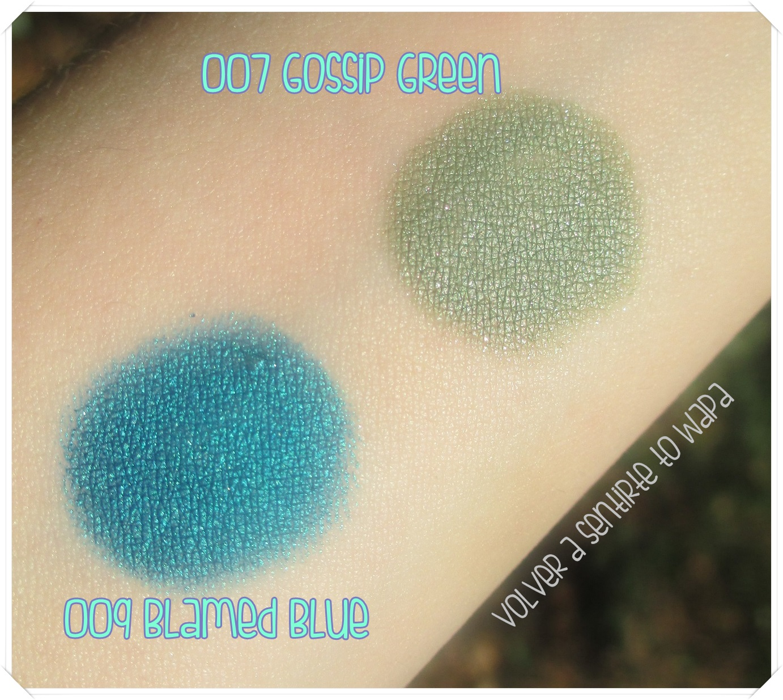 Scandaleyes Eye Shadow Stick de Rimmel London - 007 Gossip Girl y 009 Blamed Blue {Swatches}