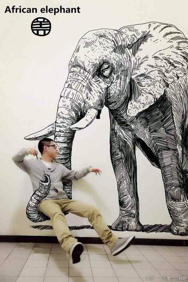 20 amazing 3d art drawings for Cool wall art drawings