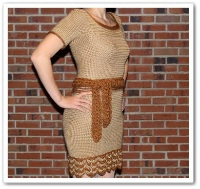 Вязаное платье своими руками