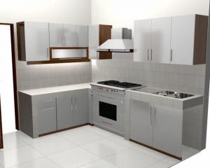 Kitchen Set With A Minimalist Style Look Of The Design. Kitchen Set Has The  Standard Functions Such As Under Cabinet Used For Storing Equipment Such As  ... Part 76