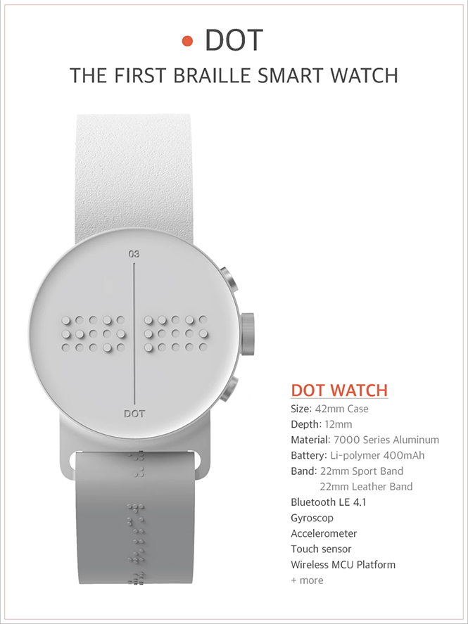 EDITOR'S PICK: Dot Watch. The First Braille Smartwatch