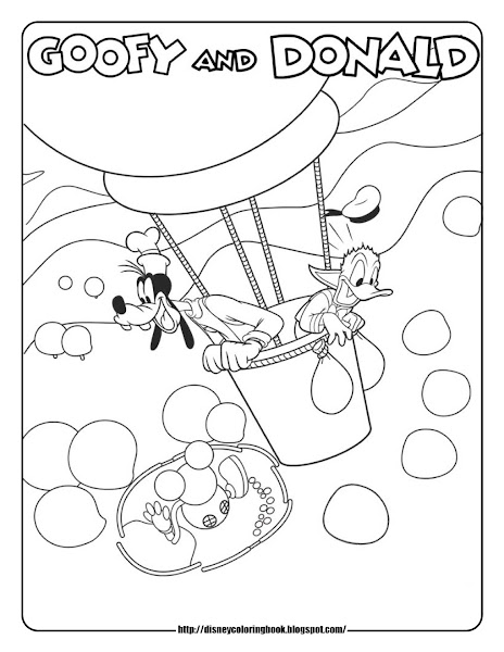 Free printable coloring pages of hot air balloons for Mickey clubhouse coloring pages