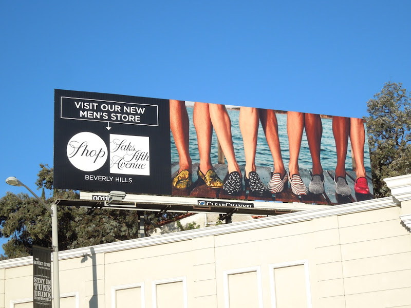 Saks Fifth Avenue mens slippers billboard