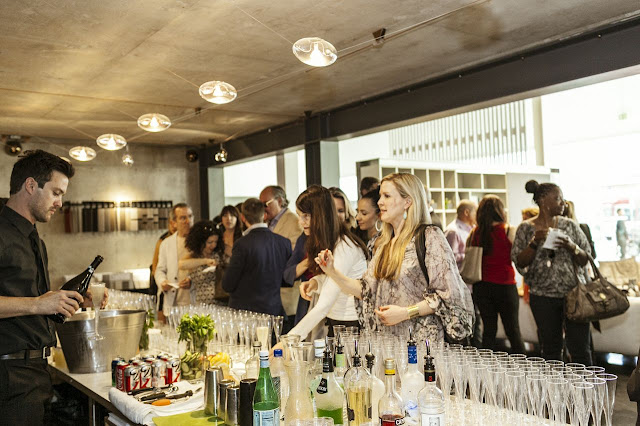 This is the Los Angeles Scene: Guests indulging in upscale store events