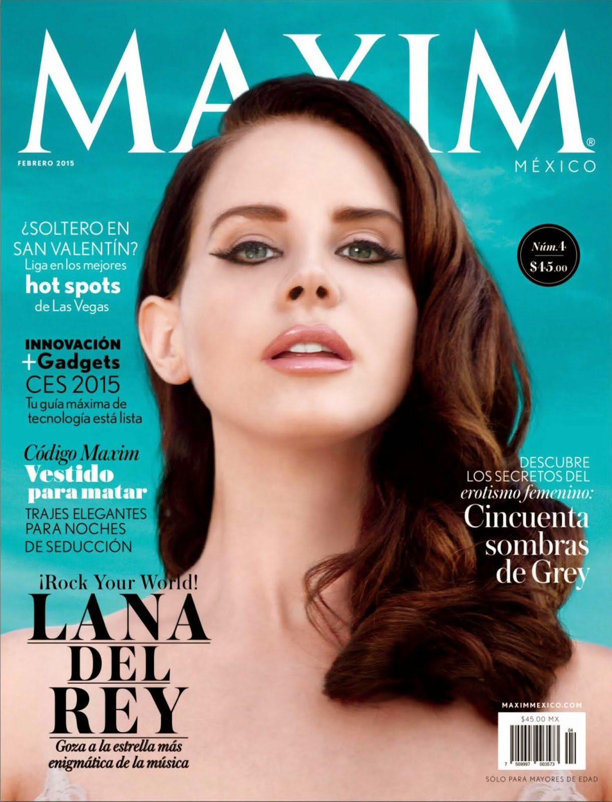 Singer-Songwriter, Model: Lana Del Rey for Maxim Mexico