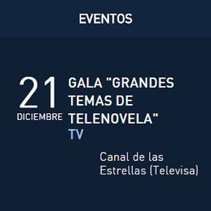 David Bisbal en Grandes Temas de Telenovela, Televisa, Mexico