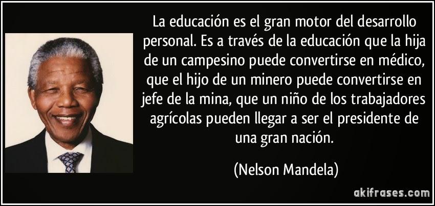 LA IMAGINACIÓN: Pensamientos de Nelson Mandela sobre la educación