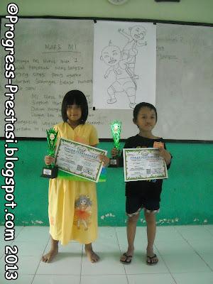 Juara Lomba Mewarnai Kategori Playgroup dan TK/RA Pesta Anak Kreatif Progress Prestasi Mojokerto