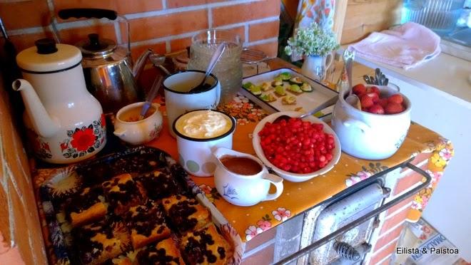 Mustikoita ja mansikoita
