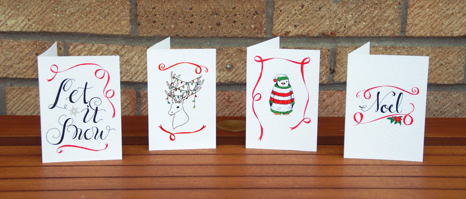Hand Drawn Christmas Cards + Free Downloads | A Blackbird\'s Epiphany ...